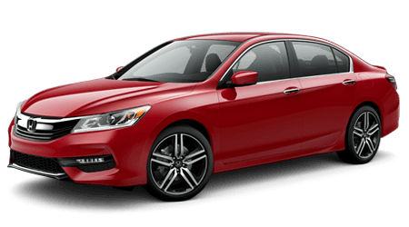 2017 Honda Accord Red with Gray Interior