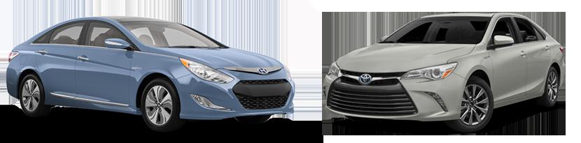 2015 Hyundai Sonata Hybrid vs. Toyota Camry Hybrid in Lakeland, FL