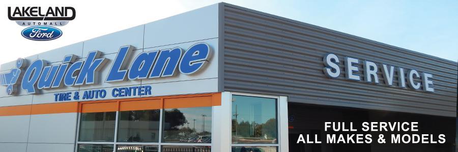 Lakeland Ford Service Center and Quicklane® | 1430 W. Memorial Blvd., Lakeland FL 33815