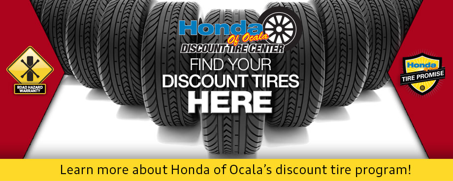 Discount Tire Program at Honda of Ocala near the Villages, Florida