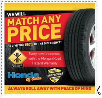 Tire Brands sold at Honda of Ocala in Ocala, FL