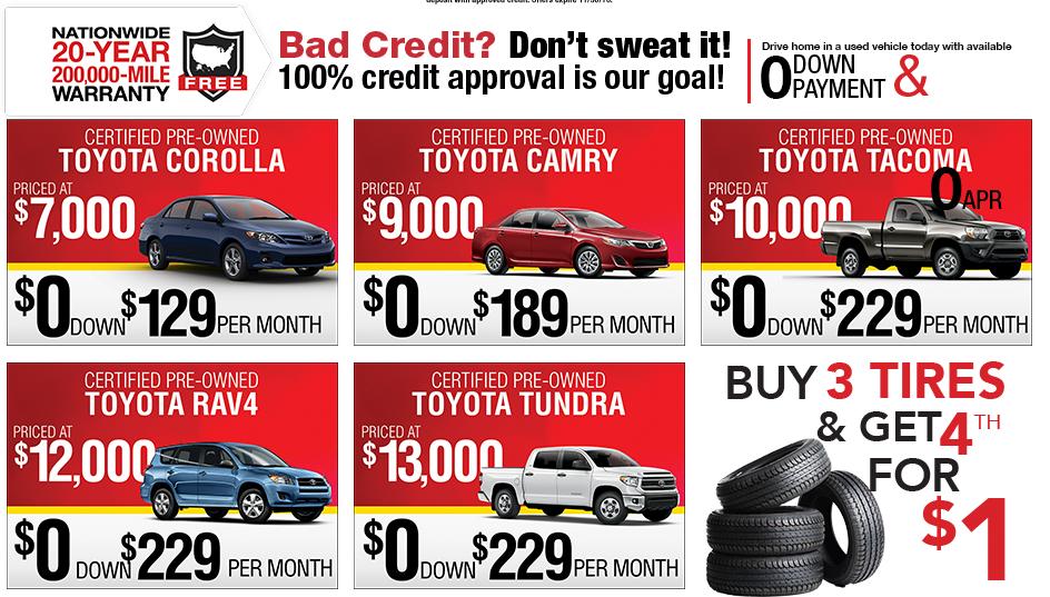 Black Friday Deals At Sun Toyota