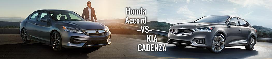 Honda Accord Sedan Vs. Kia Cadenza