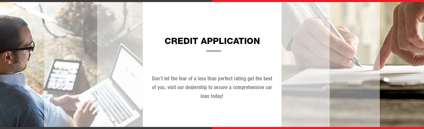 Credit Application Banner, James Hodge Toyota