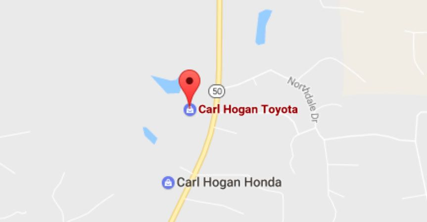 Get directions to Carl Hogan Toyota in Columbus, MS