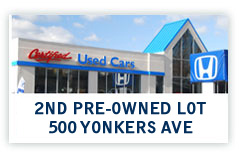 Find Certified Preowned Hondas at 500 Yonkers Ave., Yonkers, NY.