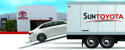 Sun Toyota is now delivering cars to customers' doors for test-drives