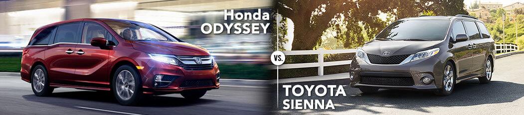 Honda Odyssey vs. Toyota Sienna