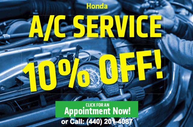 A/C Service Special At Ganley Honda