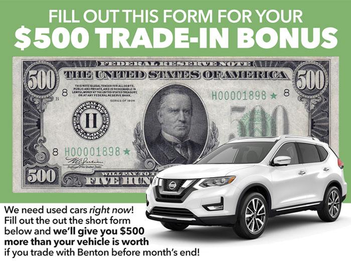 $500 Trade In Bonus