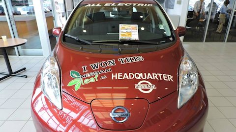 2nd Annual Nissan Leaf Raffle Giveaway