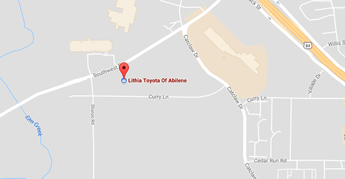 Get directions to Toyota of Abilene here