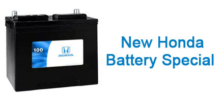 Genuine Honda Battery Installed