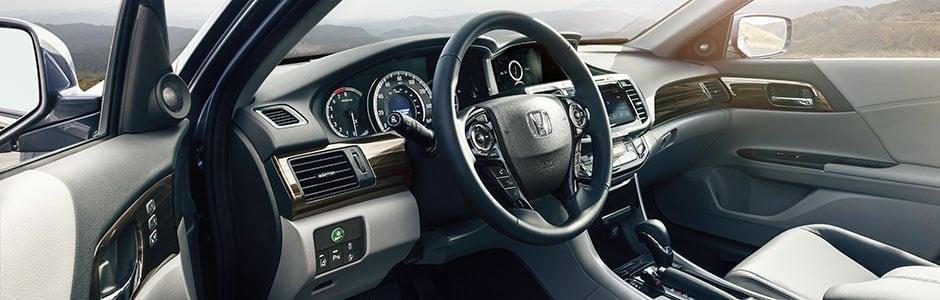 Drivers Interior view of Honda Sedan