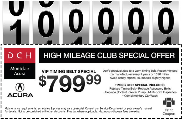 High Mileage Club Special Offer