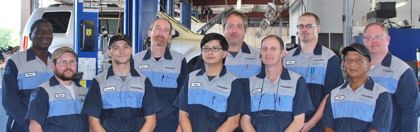 Service Department staff at Freedom Honda