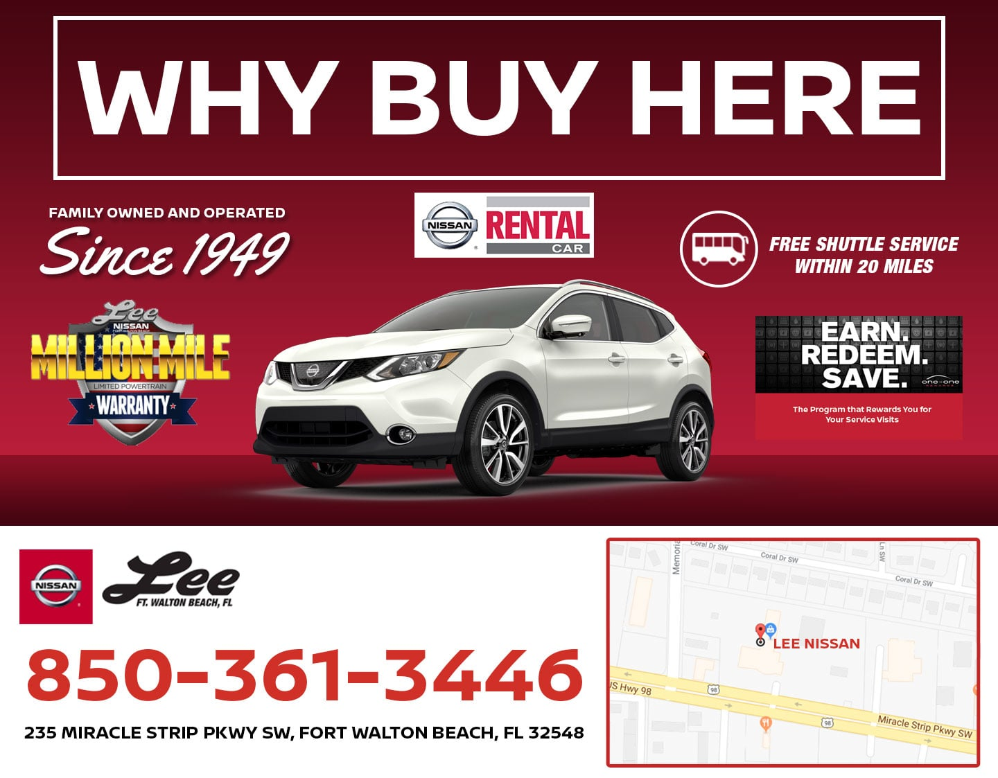 Why Buy From Lee Nissan in Fort Walton Beach, FL