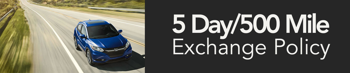 5 Day / 500 Mile Exchange Policy