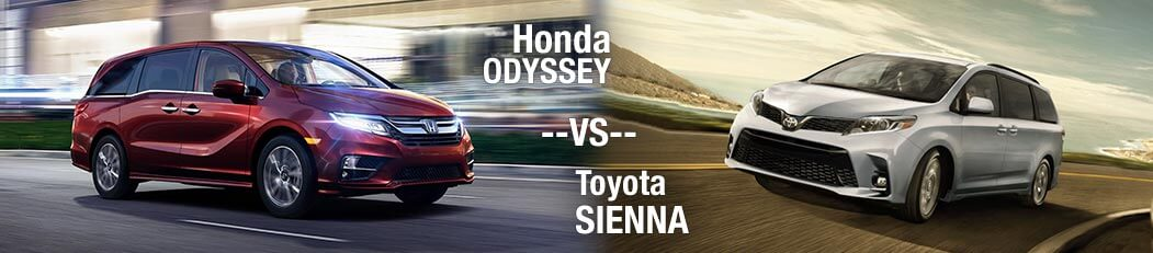 2018 Honda Odyssey vs. 2018 Toyota Sienna