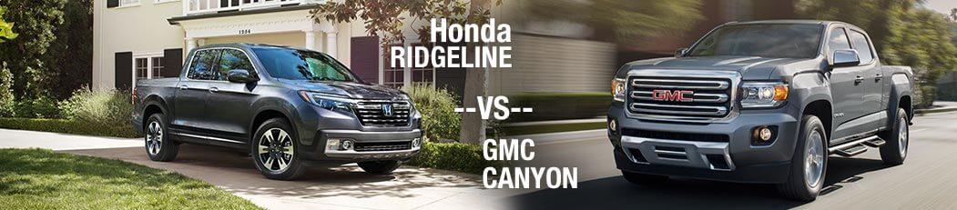 2018 Honda Ridgeline vs. 2018 GMC Canyon