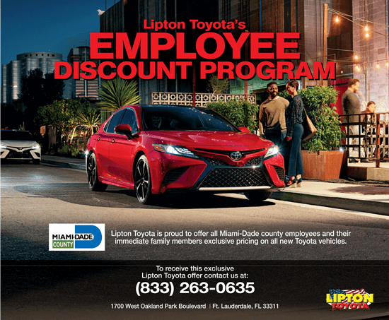 Lipton Toyota Employee Discount Program