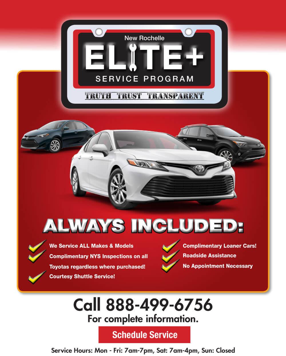 Elite Service Program, New Rochelle Toyota