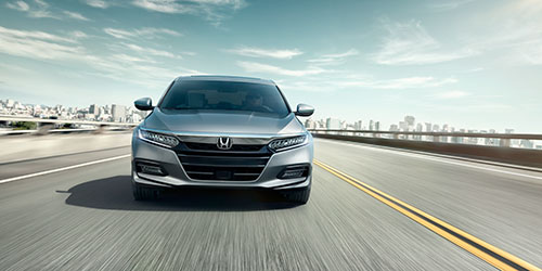 2018 Honda Accord front angle on highway