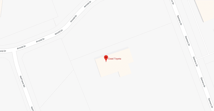 Coad Toyota is Located Here, Get Directions
