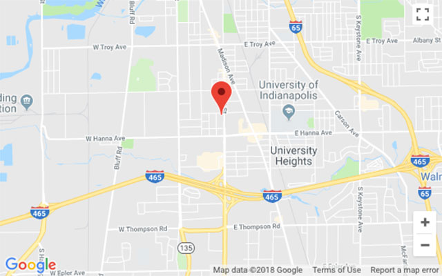 Google Maps location for 3800 S. East Street in Indianapolis