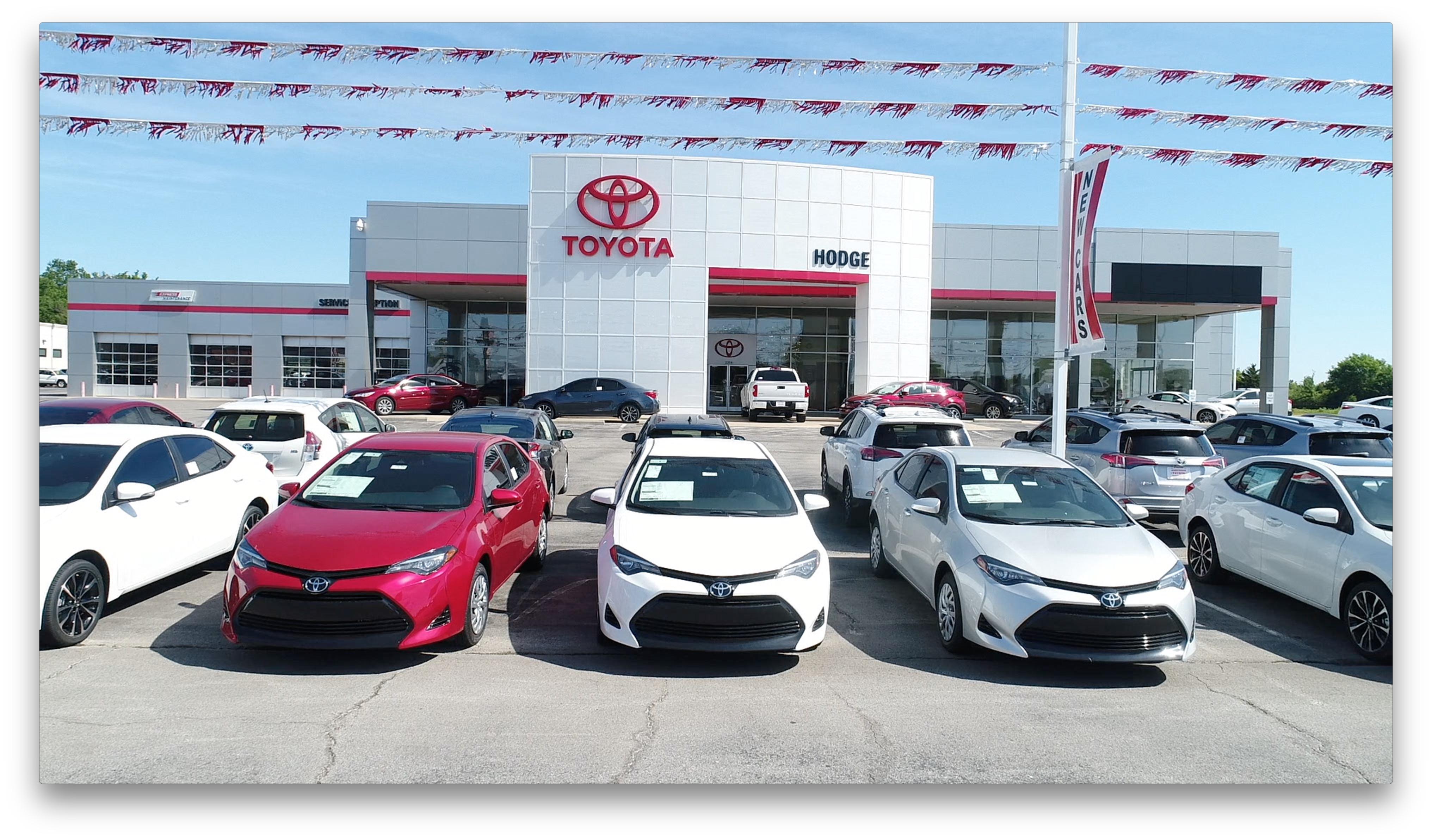 James Hodge Toyota Dealership Lot