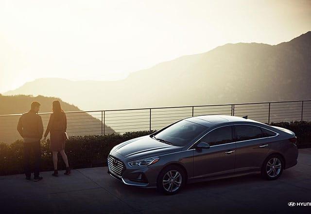 2018 Hyundai Sonata overlooking magnificent view