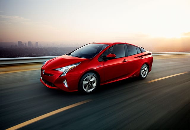 2018 Toyota Prius on the open road