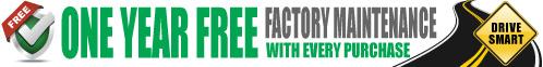 One Year Free Factory Maintenance