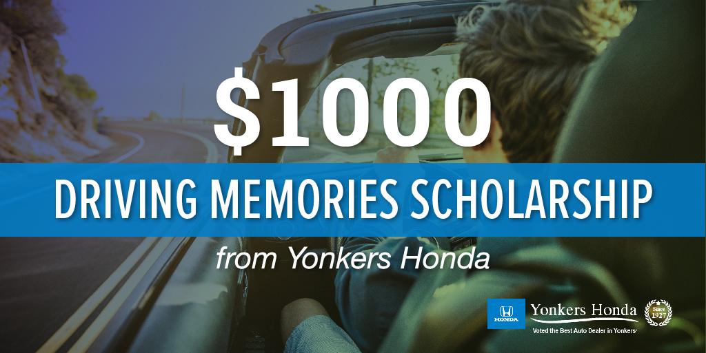 College scholarship sponsored by Yonkers Honda
