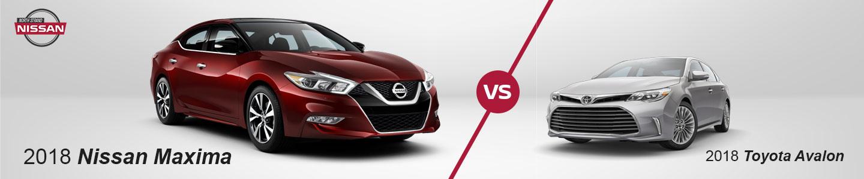 2018 Nissan Maxima vs. Toyota Avalon In Little River, SC