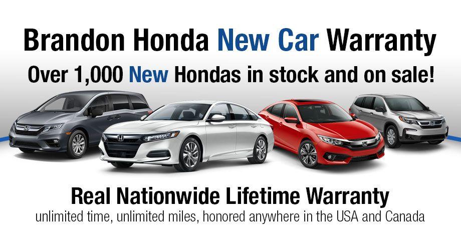 Brandon Honda New Car Warranty Real Nationwide Lifetime Warranty