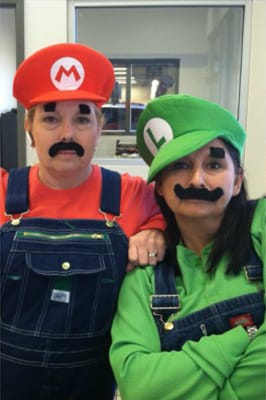 Super Mario and Luigi costumes