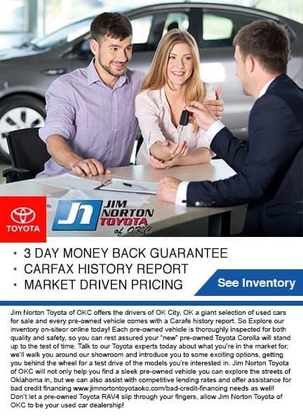 Jim Norton Toyota 3/3 preowned vehicle