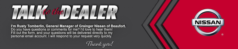 Grainger Nissan of Beaufort talk to the dealer