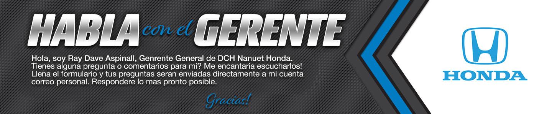 DCH Honda of Nanuet habla con el gerente