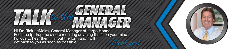 Largo Honda Talk to Dealer