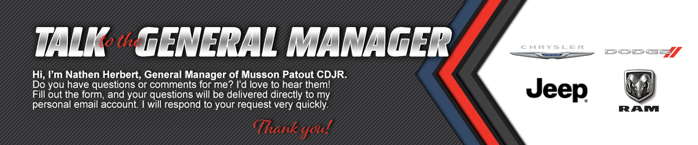 Musson Patout CDJR Talk to the General Manager