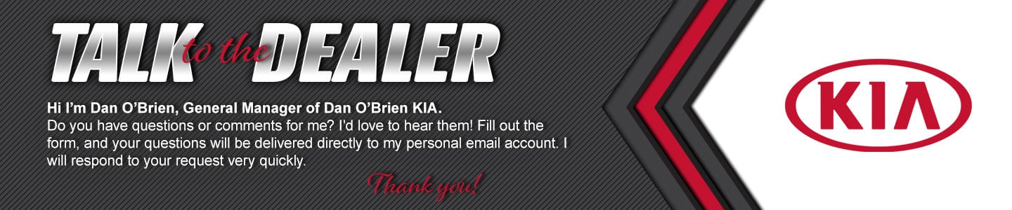 Dan O'Brien KIA talk to dealer