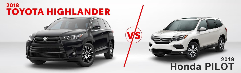 Compare the 2018 Toyota Highlander & 2019 Honda Pilot near Gadsden, AL