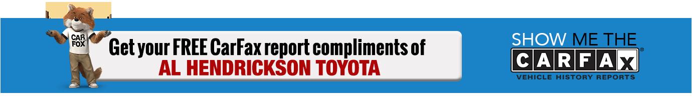 Al Hendrickson Toyota Carfax Report