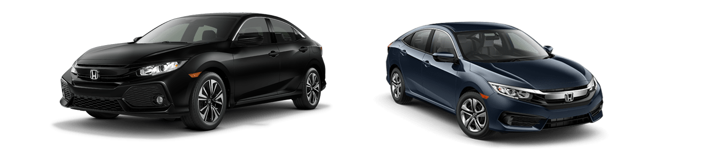 black honda insight and blue honda clarity plug-in side by side
