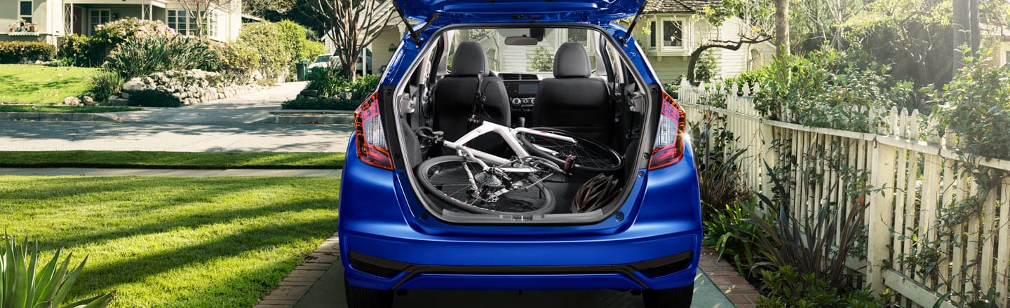 Truck open view of honda fit