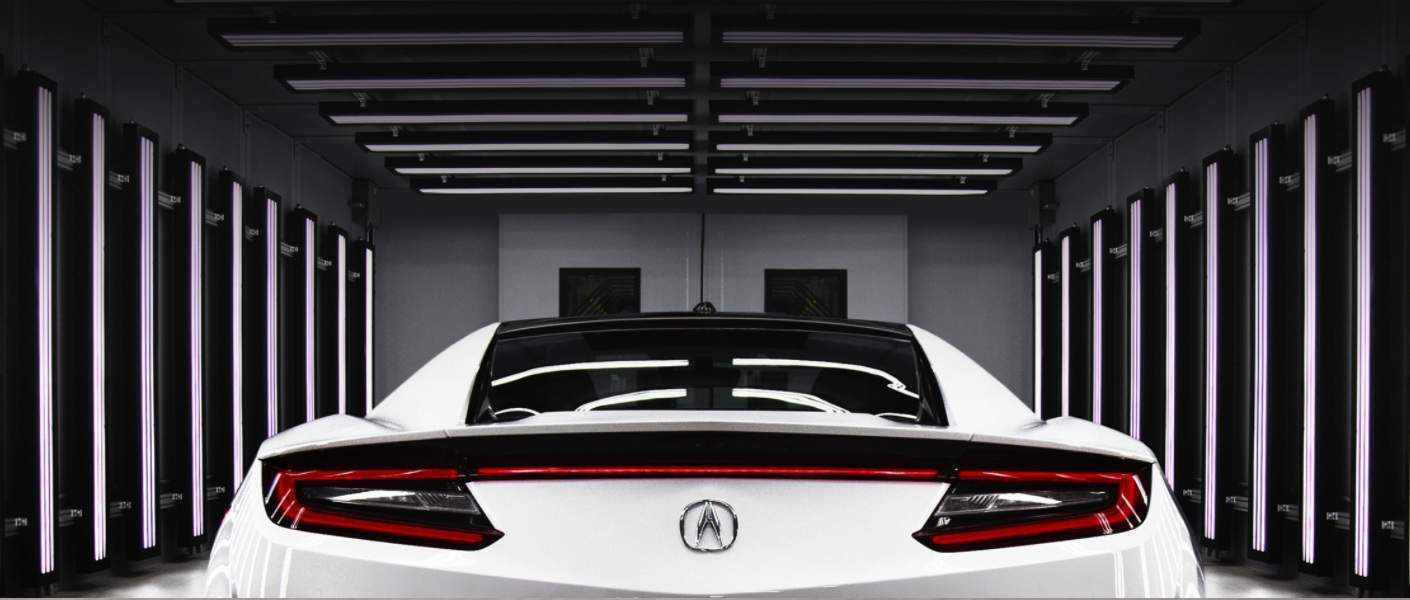 acura car back view
