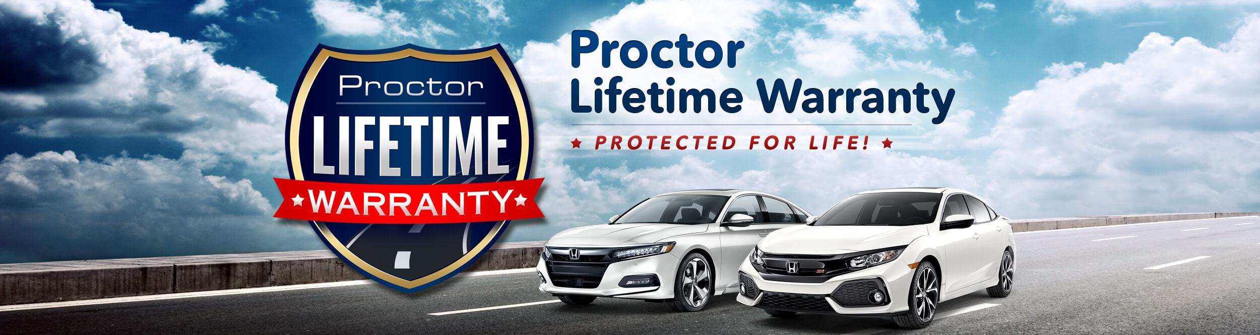 Proctor Honda Proctor Lifetime Warranty