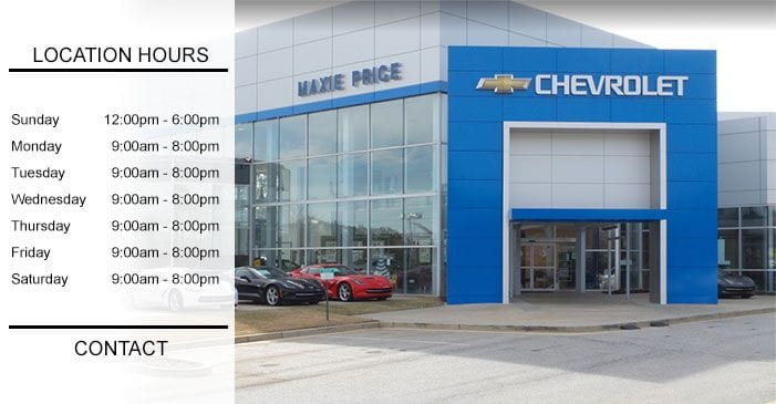 Maxie Price Chevrolet | Contact Us